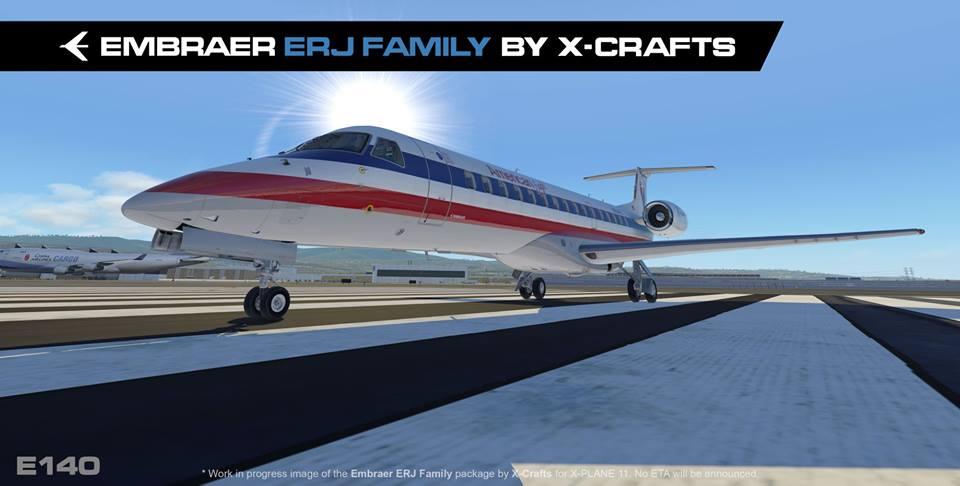 X-Crafts partagent des aperçus des Embraer E135, E140 et E145XR pour X-Plane 11