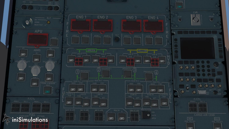 iniSimulations dévoile quelques images de leur A380 pour X-Plane 4