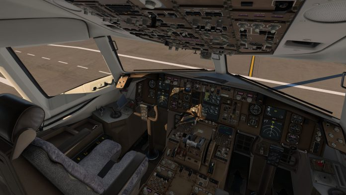 Boeing 757 Flight Factor - Cockpit view
