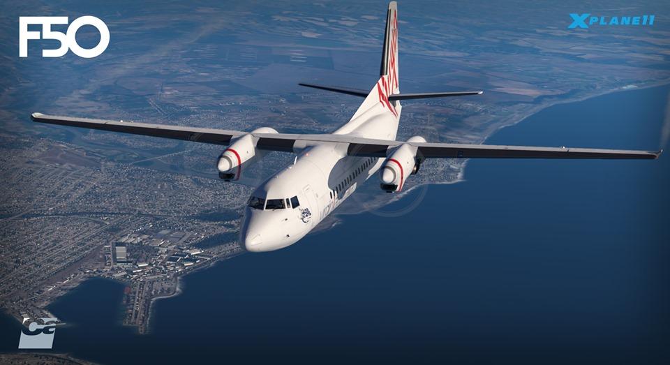 Le Fokker 50 de Carenado annoncé pour X-Plane 11
