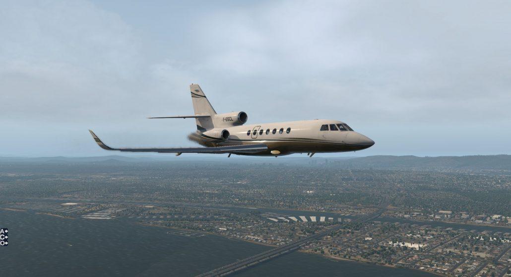 Test du Falcon 50 EX (FA50 EX) de Carenado