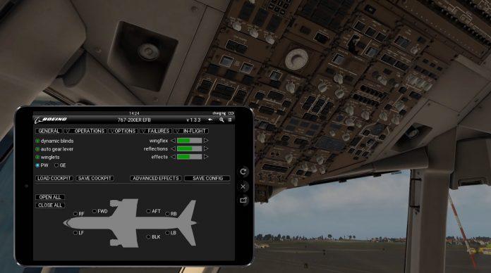 767 save cockpit option
