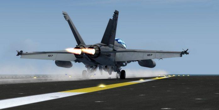 Le F/A-18 E, F & G Super Hornet de DC Designs/Just Flight disponible